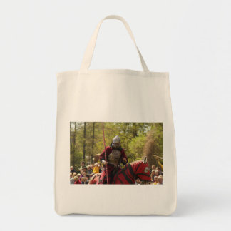 Medieval Knights Horses Lions Castle Party Destiny Grocery Tote Bag
