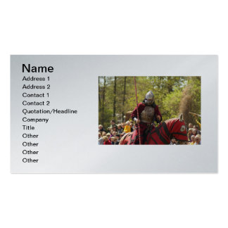 Medieval Knights Horses Lions Castle Party Destiny Business Card