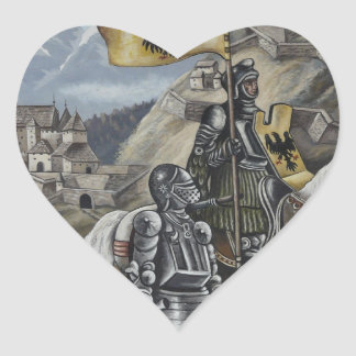 Medieval Knights Horses Lions Castle Party Destiny Heart Sticker