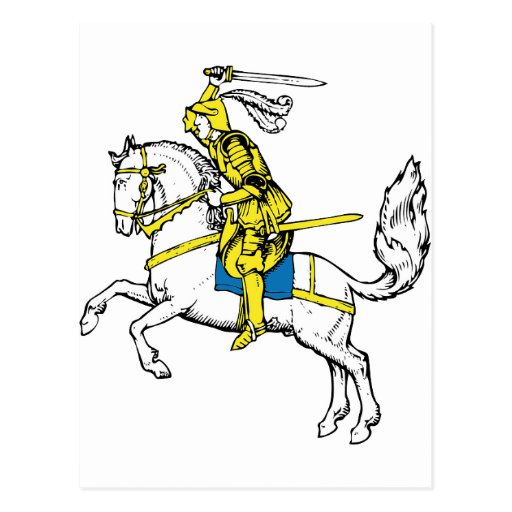 Medieval Knights Horses Lions Castle Party Destiny Post Cards