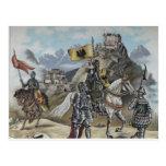 Medieval Knights Horses Lions Castle Party Destiny Postcard
