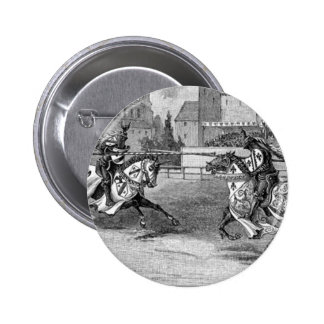 Medieval Knights Jousting Button
