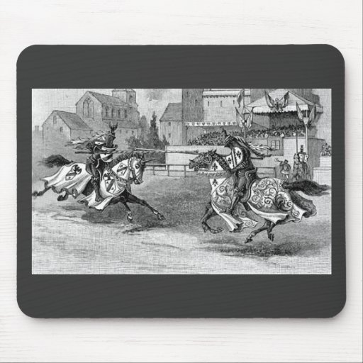 Medieval Knights Jousting Mouse Pad