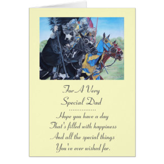 medieval knights jousting on horses art card