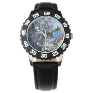 medieval knights jousting on horses art design watches