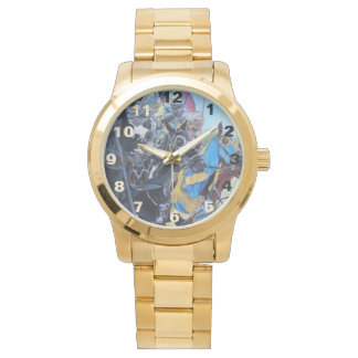 medieval knights jousting on horses art design wristwatches