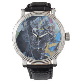 medieval knights jousting on horses art watch
