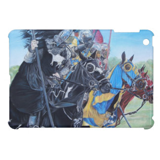 medieval knights jousting on horses historic art cover for the iPad mini