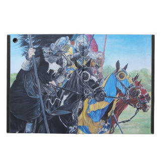 medieval knights jousting on horses historic art iPad air covers