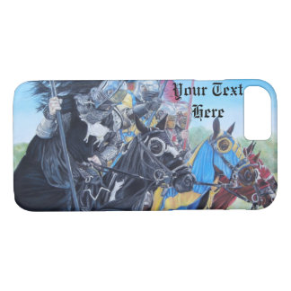 medieval knights jousting on horses historic art iPhone 7 case