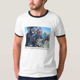 medieval knights jousting on horses historic art T-Shirt