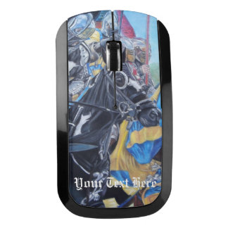 medieval knights jousting on horses historic art wireless mouse