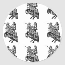Medieval Knights Knight Pattern Stickers