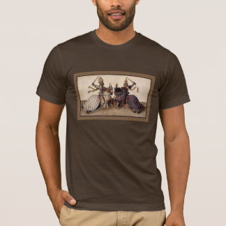 medieval knights on horseback jousting T-Shirt