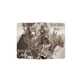 medieval knights on horses historic realist art passport holder