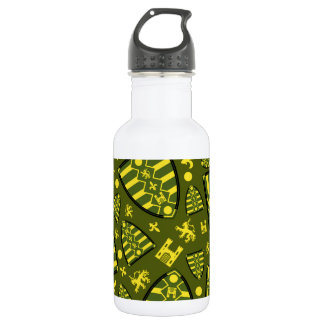 Medieval Knights Shield Pattern Stainless Steel Water Bottle