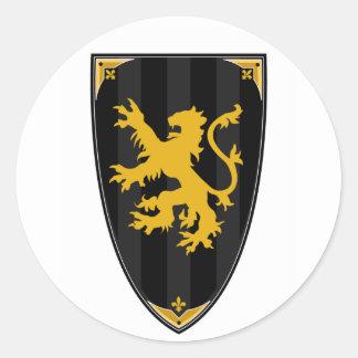 Medieval Knights Shield Sticker