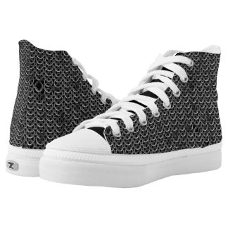 Medieval Knights Templar Chain Mail effect Printed Shoes