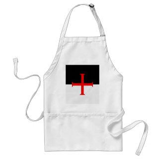 Medieval Knights Templar Cross Flag Adult Apron