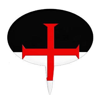 Medieval Knights Templar Cross Flag Cake Topper