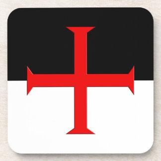 Medieval Knights Templar Cross Flag Coaster