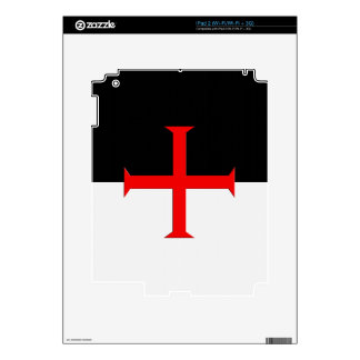 Medieval Knights Templar Cross Flag Decals For The iPad 2