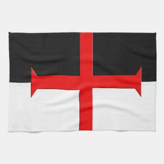 Medieval Knights Templar Cross Flag Hand Towel