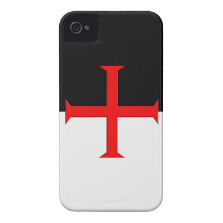 Medieval Knights Templar Cross Flag iPhone 4 Cover