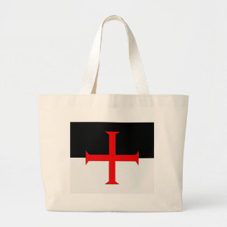 Medieval Knights Templar Cross Flag Jumbo Tote Bag