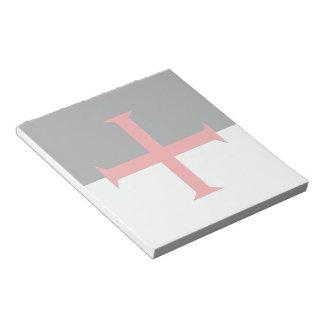 Medieval Knights Templar Cross Flag Notepad