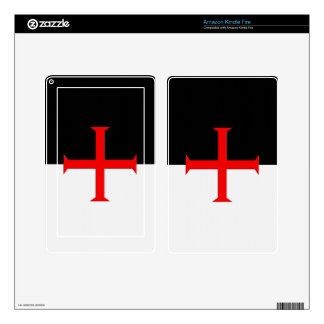 Medieval Knights Templar Cross Flag Skins For Kindle Fire