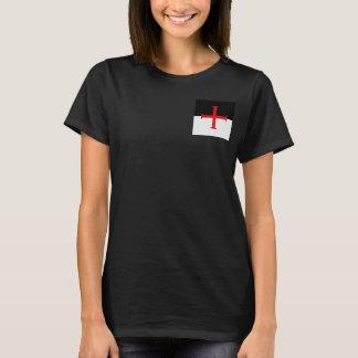 Medieval Knights Templar Cross Flag T-Shirt
