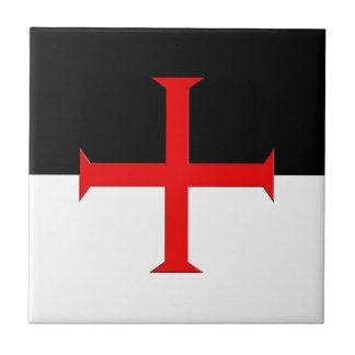 Medieval Knights Templar Cross Flag Tile