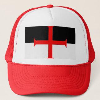 Medieval Knights Templar Cross Flag Trucker Hat