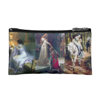 Medieval Ladies Knight Castle Letter Miranda Cosmetic Bag