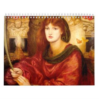 Medieval Ladies Knight Custom Printed Calendar