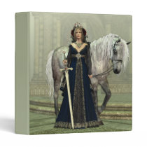 Medieval Lady and Horse Binder