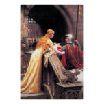 Medieval Lady and Knight Poster