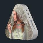 "Medieval Lady Bluetooth Speaker<br><div class=""desc"">3D digital render of a beautiful medieval lady on an old building background</div>"