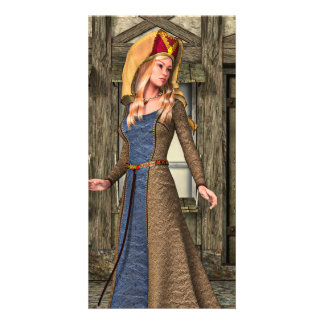 Medieval Lady Card