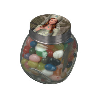 Medieval Lady Glass Candy Jar