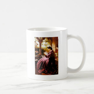 Medieval Lady Reading Letter painting Coffee Mug