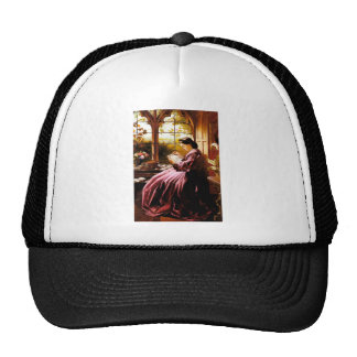 Medieval Lady Reading Letter painting Trucker Hat