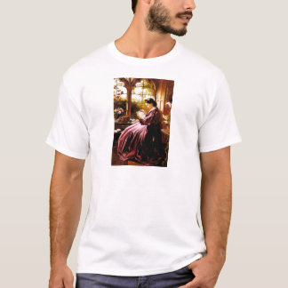 Medieval Lady Reading Letter painting T-Shirt