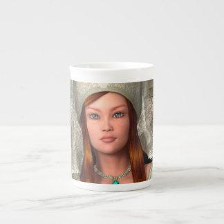 Medieval Lady Tea Cup