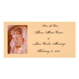 Medieval Lady Theme Save the Date Card