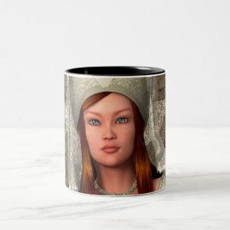 Medieval Lady Two-Tone Coffee Mug