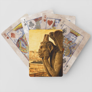 Medieval Le Stryge Gargoyle at Notre Dame, Paris Bicycle Playing Cards