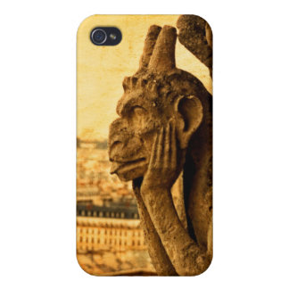 Medieval Le Stryge Gargoyle at Notre Dame, Paris iPhone 4/4S Cases