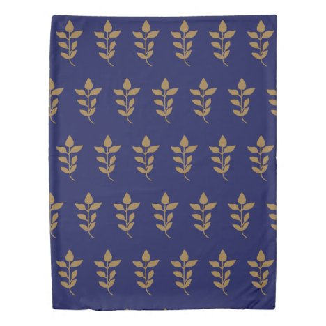 Medieval Leaf Pattern Duvet Cover